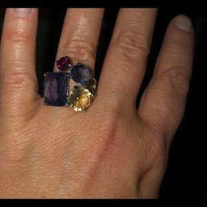 Jewelry - Gently Used Ring Multi Colored Stones!